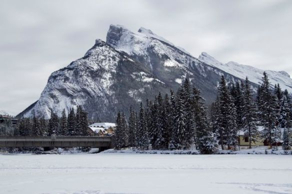 View from Bow River, Banff